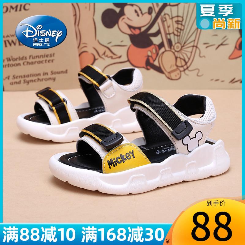 迪士尼童鞋男童宝宝凉鞋小童2020新款夏季软底1-3岁5男儿童凉鞋子