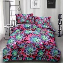 Bedding Set luxury 3D Succulent Plant Cotton Bedding sets No