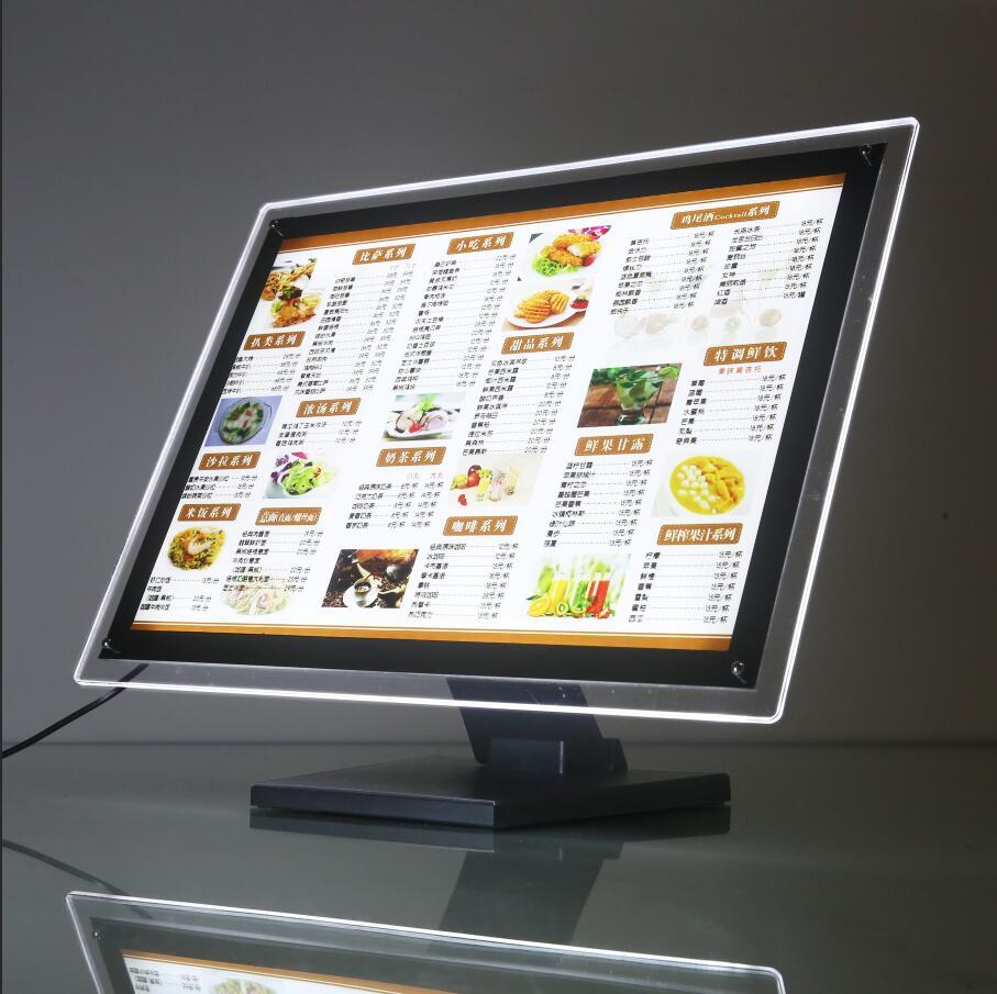 奶茶店菜单展示牌吧台式点餐水晶灯箱 led价目表价格表点菜牌定制