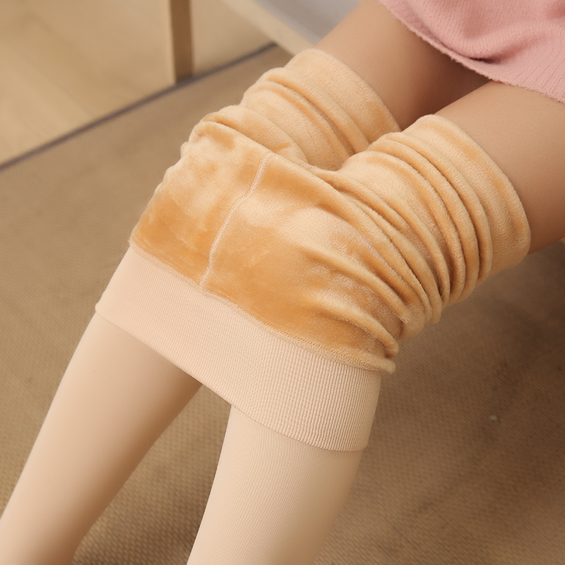 光腿肉色打底裤女薄款显瘦神器加绒加厚保暖裤袜黑色秋外穿冬瘦腿