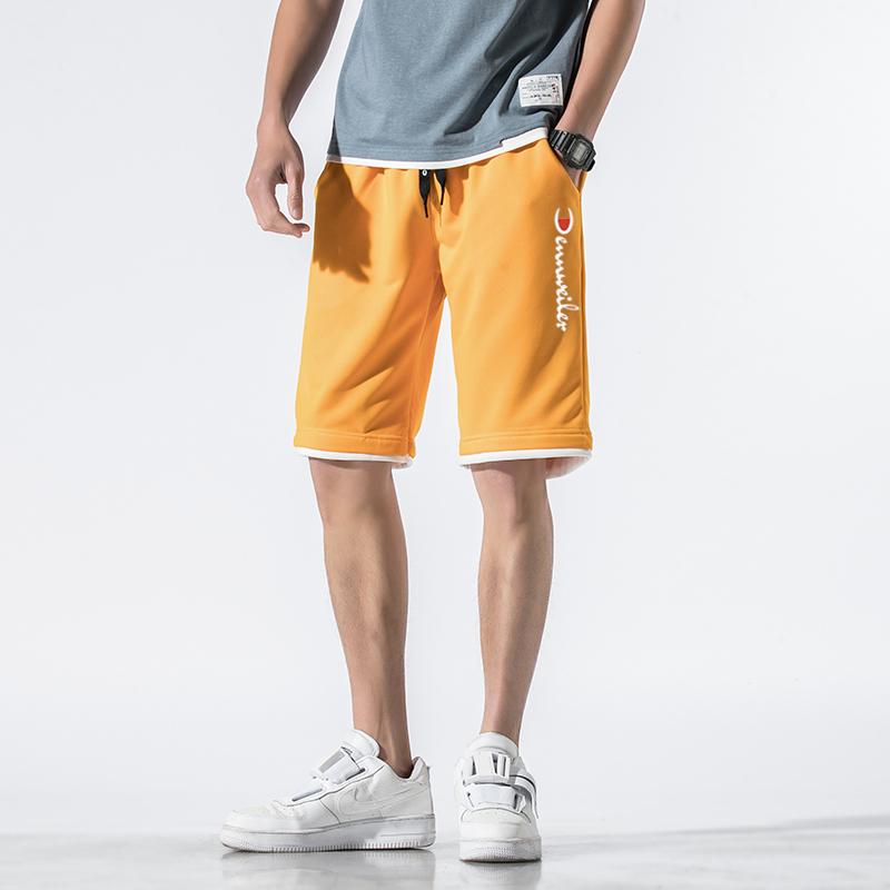 冠军犀牛短裤男2020年夏季潮流宽松五分运动沙滩裤七分中裤外穿