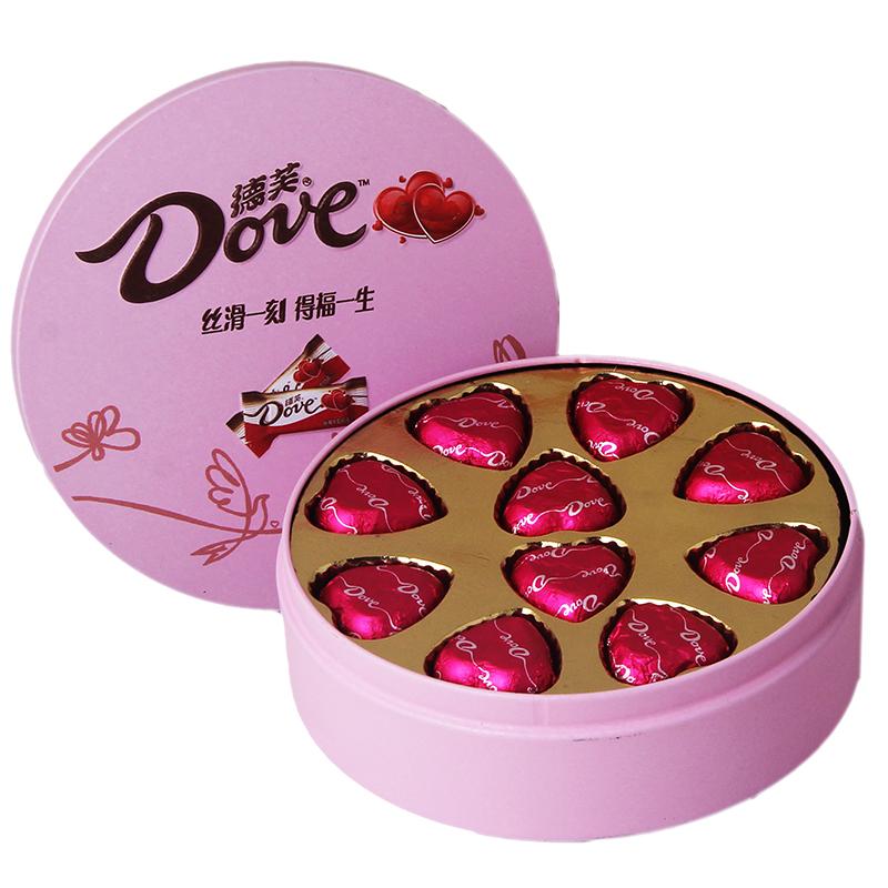 德芙巧克力礼盒装情人节圣诞节生日礼物送女友女生浪漫表白零食品