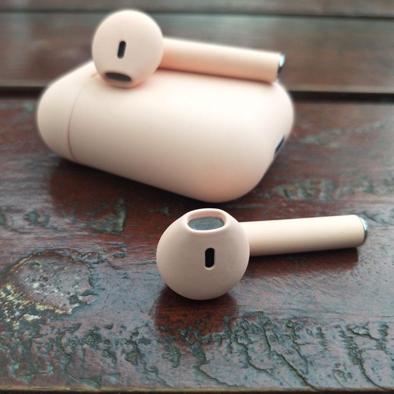少女心无线蓝牙耳机女生款可爱双耳入耳式马卡龙粉色inpods12运动苹果vivo华为小米oppo安卓通用隐形迷你磨砂