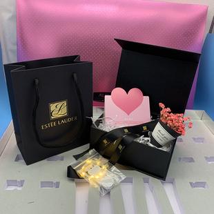 原版正品 雅诗兰黛 纸袋 口红盒 香水盒 礼品袋 唇膏购物袋 包装图片