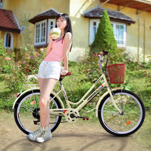 Retro new Phoenix Shengxiang 24 inch 26 inch men's and women's bicycles become single speed super light commuting lady students