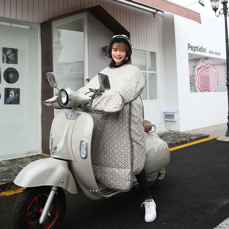 电动摩托车挡风被冬季加绒加厚电瓶装备自行防寒防水秋冬天挡风罩