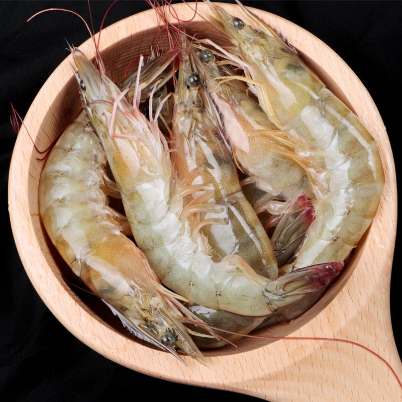 厄瓜多尔白虾超大特大对虾大虾鲜活速冻冷冻海鲜水产基围虾毛4斤
