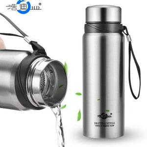 Haodi 304 stainless steel large capacity insulation pot male and female students portable outdoor travel cold water bottle
