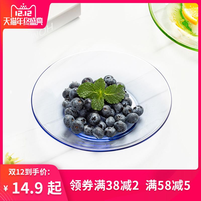 喜碧彩色玻璃盘子 密封罐五谷杂粮食品瓶子茶叶罐带盖