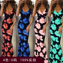 Sleeveless Multicolor Dress with Suspender Digital Printing