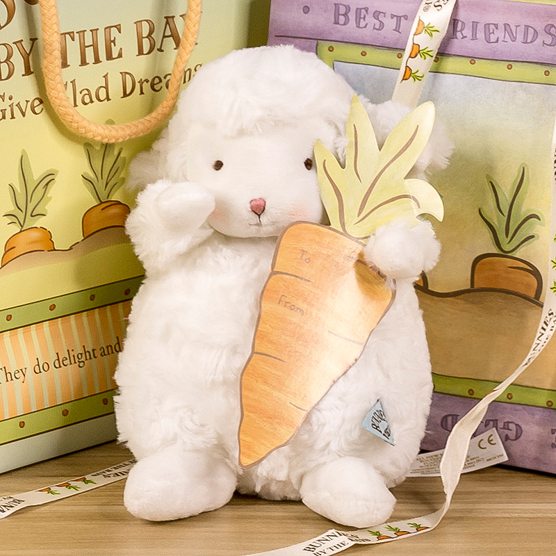 美国bunnies by the bay正版小羊公仔毛绒玩具网红玩偶小坐羊绵羊