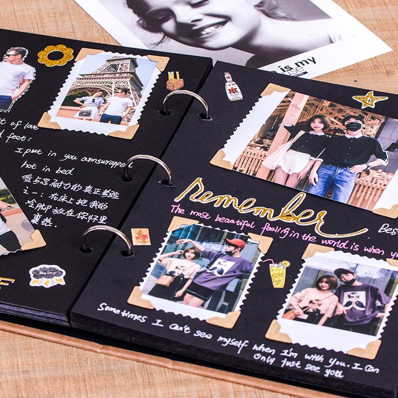 相册本diy手工创意纪念册情侣相册制作拍立得照片书定制影集家庭