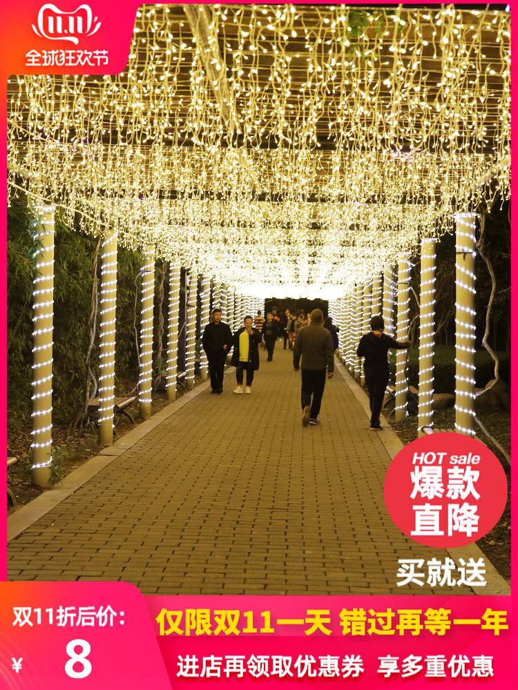 LED冰条灯串彩灯闪灯串灯满天星圣诞装饰灯户外防水瀑布灯星星灯