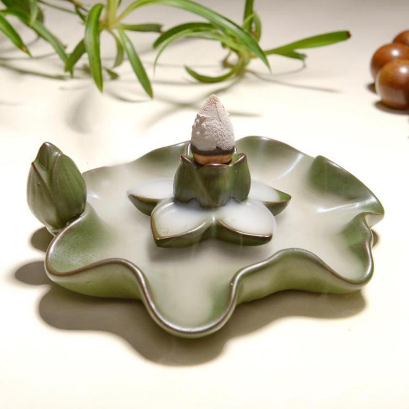盘香线香倒流香香炉三用香插创意摆件葫芦莲花熏香炉