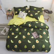 Avocado Cartoon Bedding Set for Kids Adult Duvet Cover King