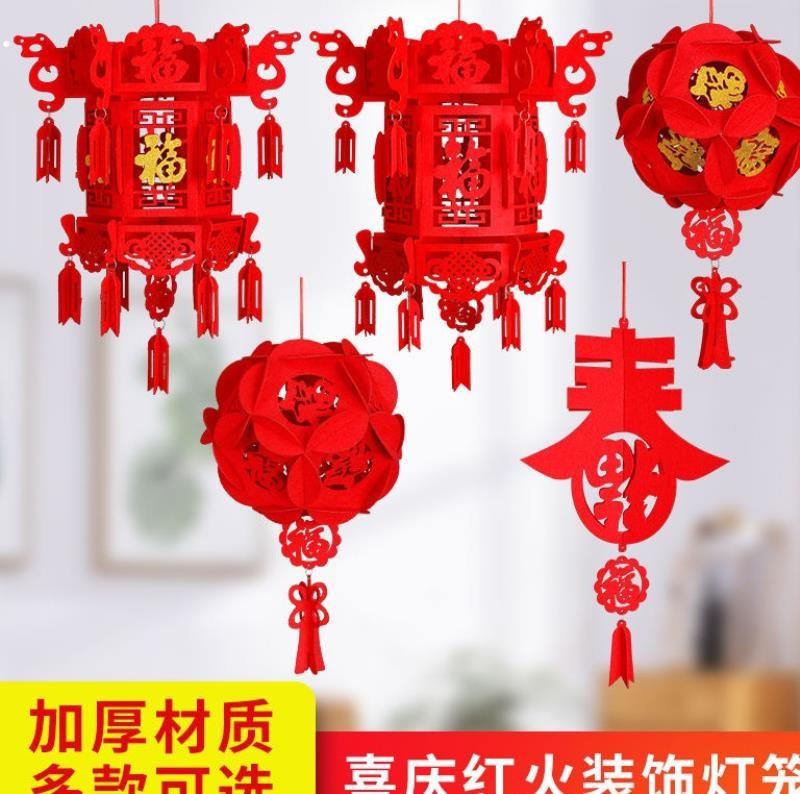 佳节新品室外节日小灯笼立体一串吊灯防水阳台红灯笼大门口