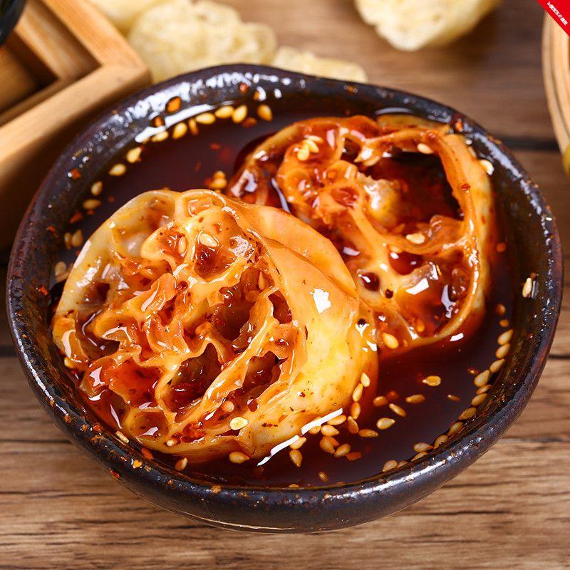 网红吸汁大面藕500g即食干货面藕圈沾串素食火锅配菜凉拌山东特产