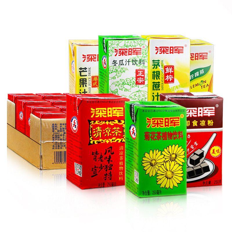 整箱包邮港式饮料24盒菊花冬瓜清凉茶凉粉甘蔗汁芒果汁柠檬茶