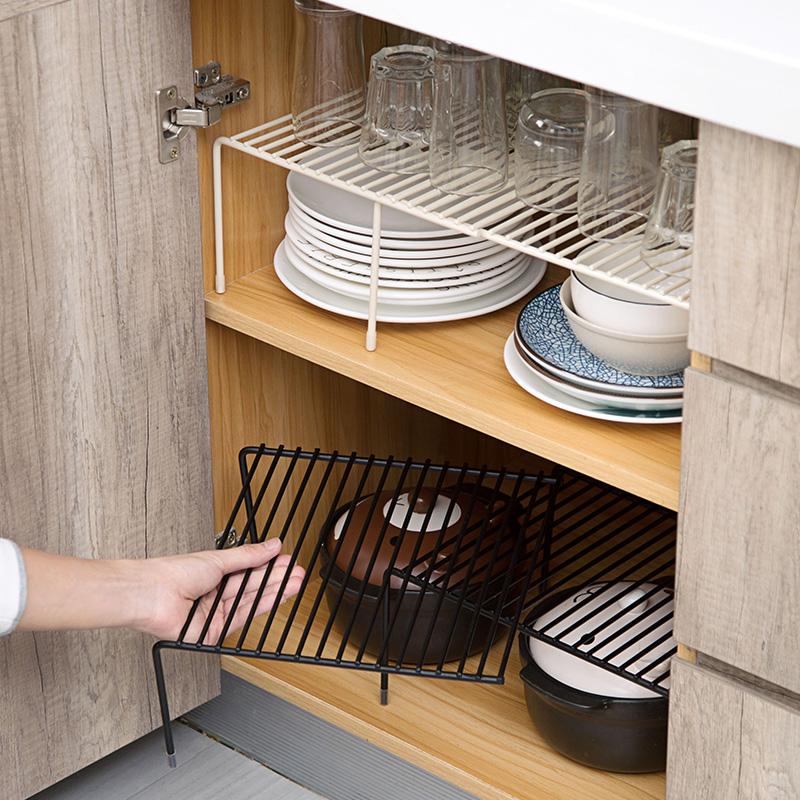 可伸缩厨房置物架调料架调味架铁艺橱柜下水槽收纳架碗碟架沥水架