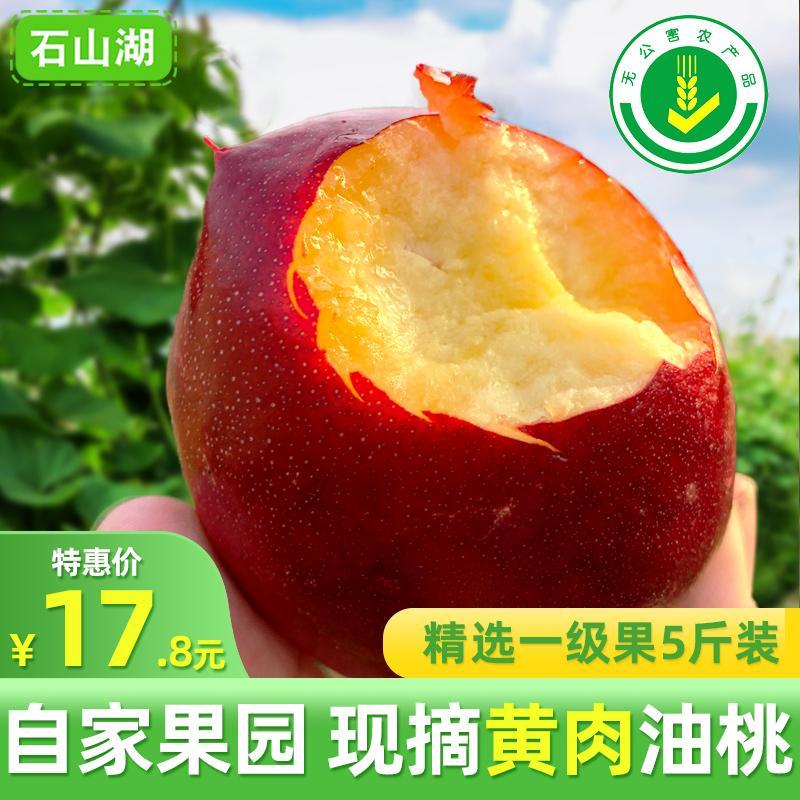 现摘黄肉油桃5斤桃子新鲜孕妇水果当季黄心油桃水蜜桃包邮