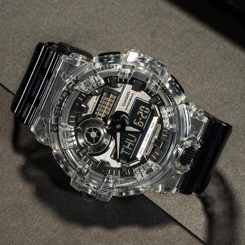 卡西欧手表男限量G-SHOCK冰川冰韧系列白虎电子手表GA-700SK-1A