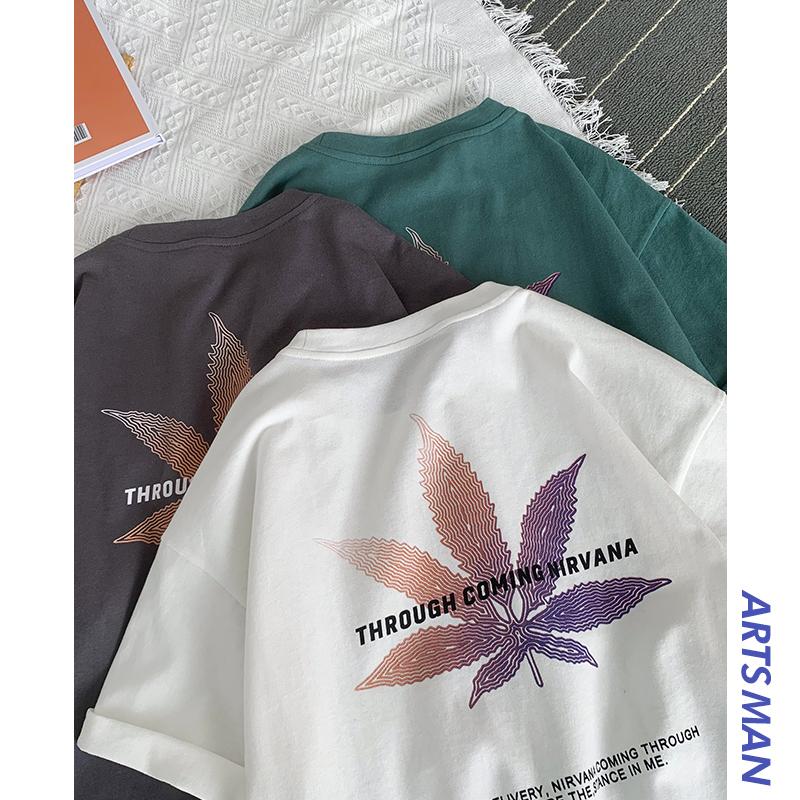 @港仔文艺男 2020夏季新款印花短袖T恤男士韩版宽松潮流学生体恤