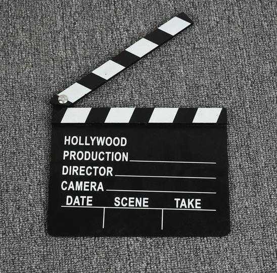 摆设拍电影装备拍戏打板演戏用外景拍衣服家用记录用的场记板道具