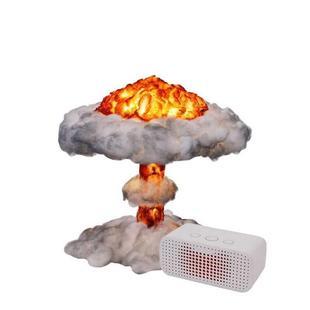 蘑菇云爆炸灯灯饰床头婴儿怕黑充电式红可爱时尚摆件厕所浪漫学生