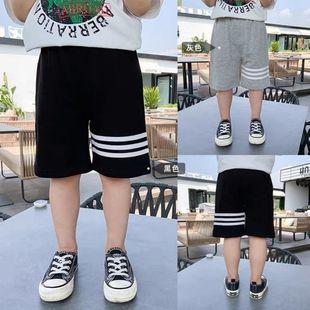 男童短裤2021夏装薄款纯棉儿童帅气运动裤宽松时尚外穿休闲五分裤