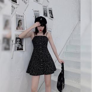 【欧阳俊瑶】微胖大码女装2020秋装胖MM新款复古气质豹纹连衣裙图片