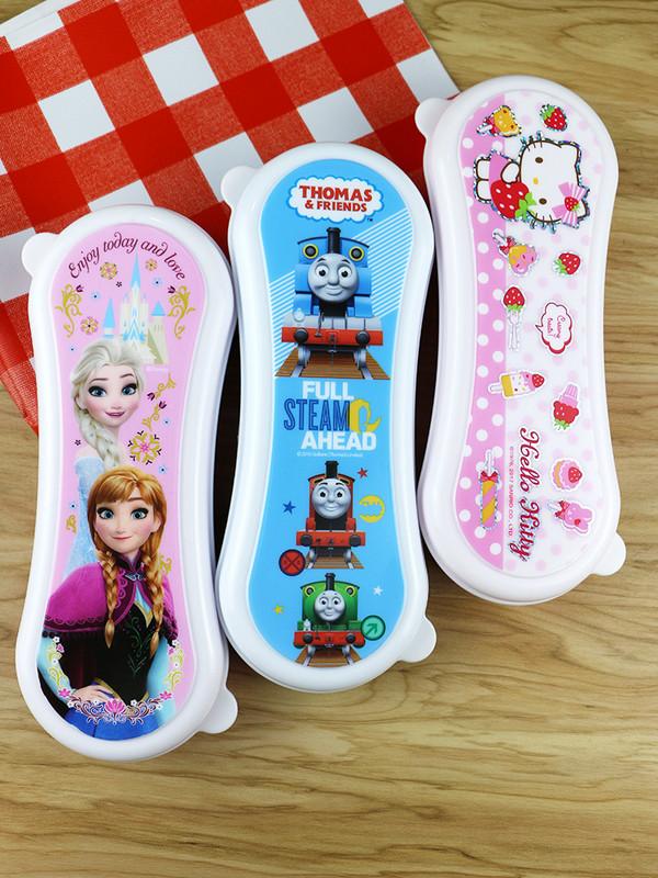 儿童婴儿勺子收纳盒便携式外出宝宝筷子叉子硅胶软勺子放餐具盒子