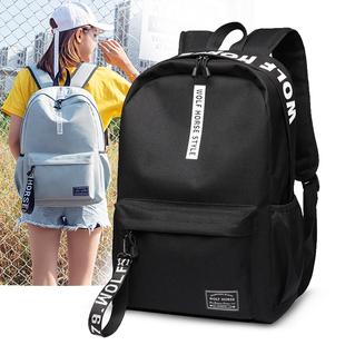 双肩包男韩版潮流中小学生书包女大容量电脑包休闲简约旅行包背包图片