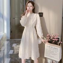 春装2021年新款潮法式蕾丝连衣裙子女装春款仙女高端气质打底长裙