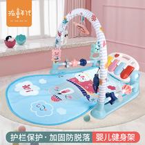宝宝玩具0-1岁婴儿可踢踏钢琴健身架至6-12个月新生儿安抚哄娃