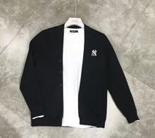 2021秋季青年男士休闲新款刺绣外穿ls15款修身op套针织开衫