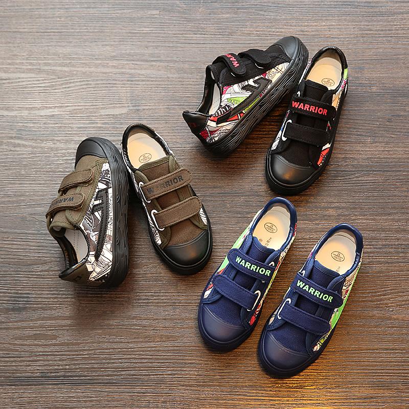 回力童鞋男童学生鞋女童宝宝儿童帆布鞋潮板鞋2017新款球鞋军旅鞋