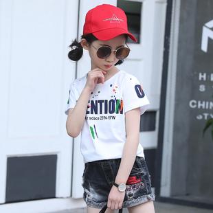 女童短袖t恤2019新款韩版小