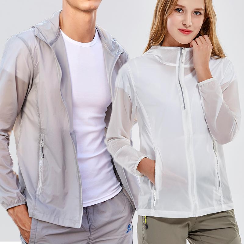 男士防晒服超薄透气夏天薄款加肥加大码潮韩版白色衫女冰丝防嗮衣