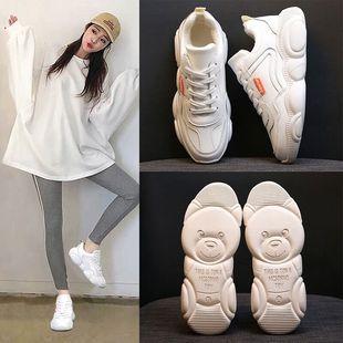 妮西蝶小白鞋女冬季春夏2019新款网红女鞋小熊老爹鞋运动学生板鞋