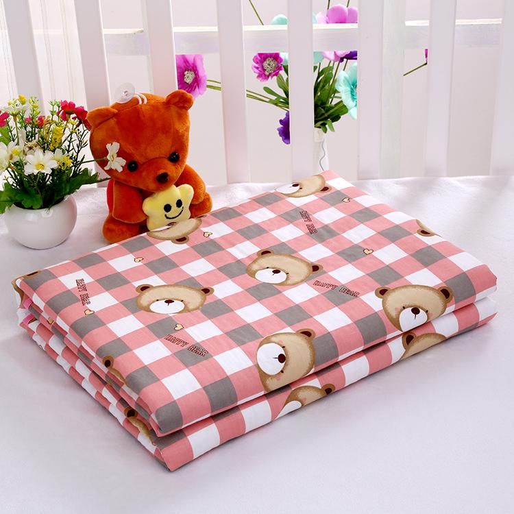 婴儿纯棉斜纹隔尿垫防水透气宝宝可洗护理垫50/70小垫子