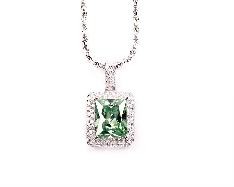 S925 Iced Rock necklace 纯银满钻宝石项链男女同款锁骨链短链