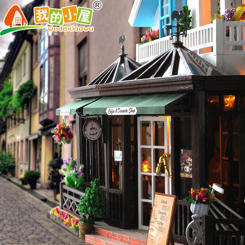 diy小屋创意大型别墅咖啡屋手工拼装房子模型女生生日礼物玩具