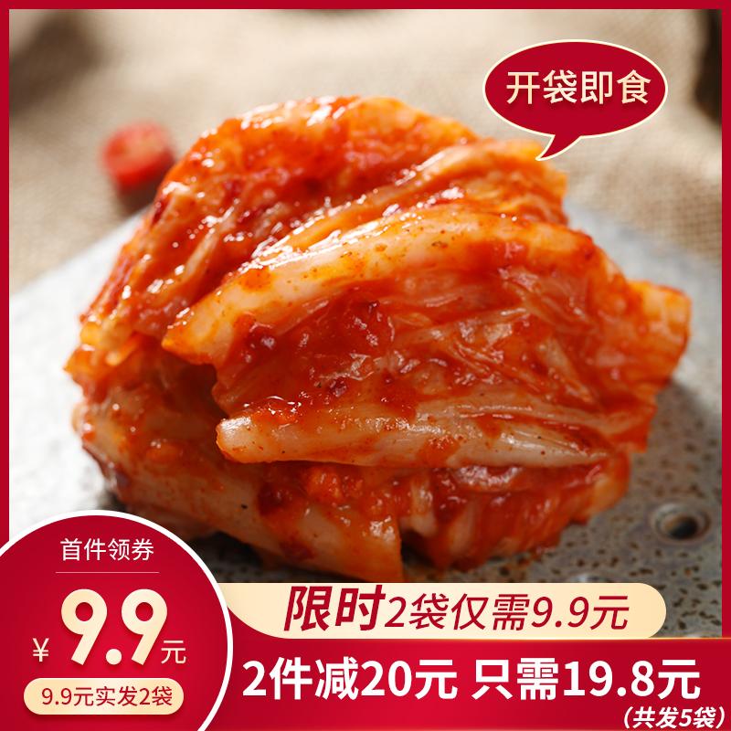 海珍莉尔 韩国泡菜正宗朝鲜辣白菜450*2韩式下饭咸菜手工免切酱菜