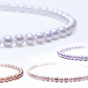 【顺丰包邮】玖珍正品淡水珍珠项链女 饱满近正圆套装 送妈妈婆婆