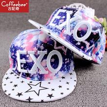 星空帽子韩款潮棒球帽嘻哈帽鸭lt11帽exmi平沿帽男女士春夏