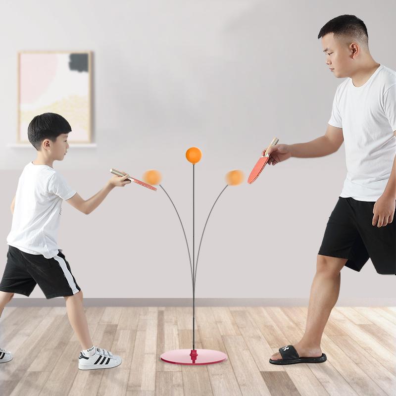 乒乓球训练器自练神器家用儿童网红弹力软轴吸盘式兵兵防近视玩具