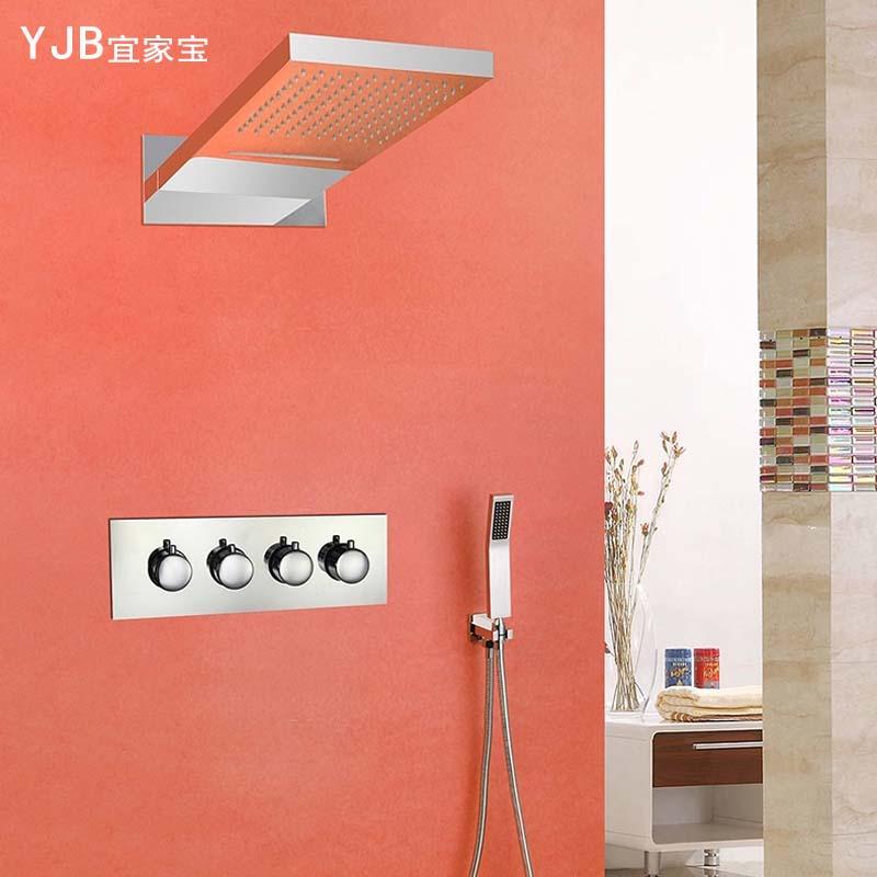 桑拿房飞雨瀑布功能顶喷头淋浴器 家装主材欧式创意花洒卫浴套装
