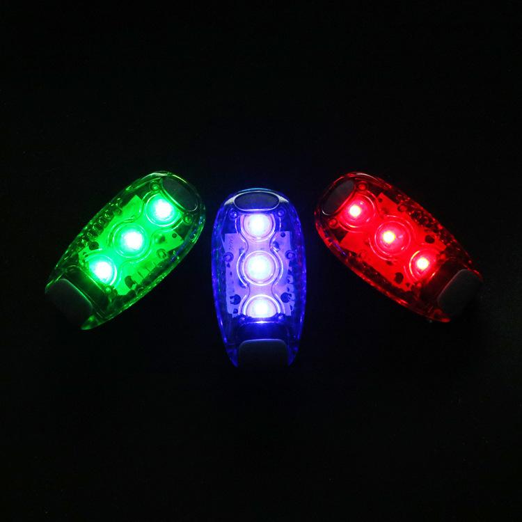 户外骑行LED安全警示灯闪光跑步臂灯背包尾灯救生棒荧光买二送一