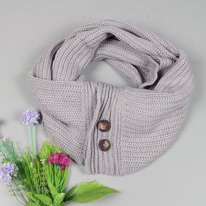 Clothing accessories ladies Korean button widened thick line long scarf autumn and winter soft warm scarf