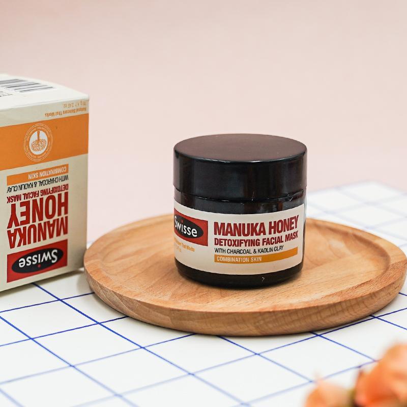 Swisse清洁面膜澳洲麦卢卡蜂蜜深层收缩毛孔李佳琦泥膜去黑头粉刺